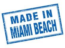 fatto nel bollo di Miami Beach Royalty Illustrazione gratis