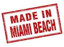fatto nel bollo di Miami Beach Illustrazione Vettoriale