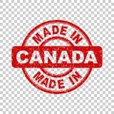Fatto nel bollo rosso del Canada illustrazione di stock