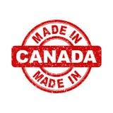 Fatto nel bollo rosso del Canada Fotografie Stock Libere da Diritti