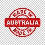 Fatto nel bollo rosso dell'Australia illustrazione di stock
