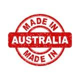 Fatto nel bollo rosso dell'Australia Fotografia Stock Libera da Diritti