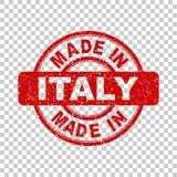Fatto nel bollo rosso dell'Italia illustrazione di stock