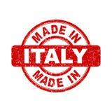 Fatto nel bollo rosso dell'Italia Fotografia Stock Libera da Diritti