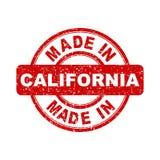 Fatto nel bollo rosso di California Illustrazione di vettore su backg bianco Fotografie Stock