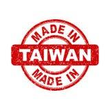 Fatto nel bollo rosso di Taiwan illustrazione di stock