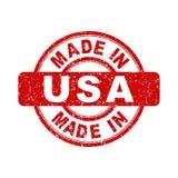 Fatto nel bollo rosso di U.S.A. illustrazione di stock