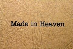 Fatto nel cielo Immagini Stock