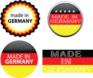 Fatto nel contrassegno della Germania illustrazione di stock