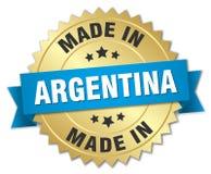 fatto nel distintivo dell'Argentina illustrazione vettoriale