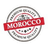 Fatto nel Marocco, insegna di qualità premio/autoadesivo stampabili Fotografie Stock
