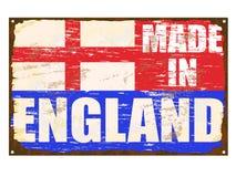 Fatto nel segno dello smalto dell'Inghilterra Immagini Stock