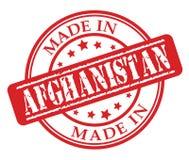 Fatto nel timbro di gomma di rosso di Afghanistan Fotografia Stock