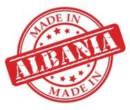 Fatto nel timbro di gomma di rosso dell'Albania Fotografia Stock Libera da Diritti