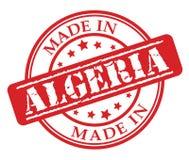 Fatto nel timbro di gomma di rosso dell'Algeria Immagine Stock Libera da Diritti
