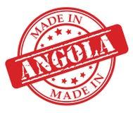 Fatto nel timbro di gomma di rosso dell'Angola Fotografia Stock