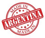 Fatto nel timbro di gomma di rosso dell'Argentina Fotografia Stock Libera da Diritti