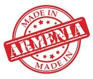 Fatto nel timbro di gomma di rosso dell'Armenia Immagine Stock