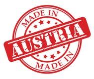 Fatto nel timbro di gomma di rosso dell'Austria Immagini Stock Libere da Diritti