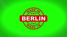 Fatto nell'animazione del bollo di BERLIN Signed Stamping Text Wooden royalty illustrazione gratis