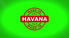 Fatto nell'animazione del bollo di HAVANA Signed Stamping Text Wooden royalty illustrazione gratis