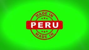 Fatto nell'animazione del bollo di PERU Signed Stamping Text Wooden illustrazione vettoriale