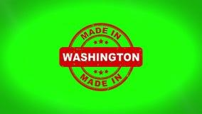 Fatto nell'animazione del bollo di WASHINGTON Signed Stamping Text Wooden royalty illustrazione gratis