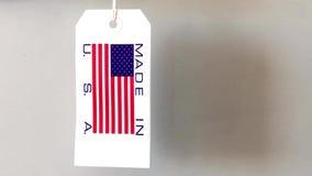 Fatto nell'etichetta della carta di U.S.A. archivi video
