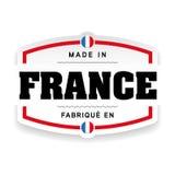 Fatto nell'etichetta della Francia illustrazione di stock