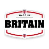 Fatto nell'etichetta della Gran-Bretagna royalty illustrazione gratis