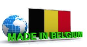 Fatto nell'illustrazione del Belgio Immagine Stock