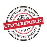 Fatto nell'insegna stampabile/autoadesivo di qualità premio della repubblica Ceca Fotografia Stock Libera da Diritti