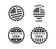 Fatto nelle etichette d'annata di U.S.A. Fotografia Stock