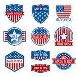 Fatto nelle icone di vettore di U.S.A. Fotografia Stock Libera da Diritti