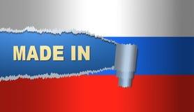 Fatto in Russia, bandiera, illustrazione Fotografie Stock Libere da Diritti