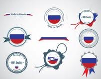 Fatto in Russia - guarnizioni, distintivi Fotografie Stock Libere da Diritti