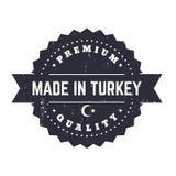 Fatto in Turchia, distintivo d'annata Fotografia Stock Libera da Diritti