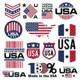 Fatto in U.S.A. Fotografie Stock