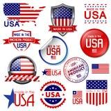 Fatto in U.S.A. Fotografia Stock