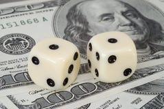 Fattore di rischio sugli investimenti del dollaro Fotografie Stock Libere da Diritti