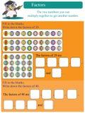 Fattori matematici 2 Immagini Stock