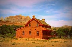 Fattoria a Grafton, città fantasma dell'Utah Fotografia Stock Libera da Diritti