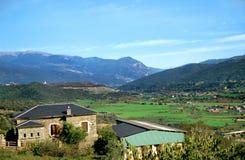 Fattoria nei Pyrenees Fotografia Stock