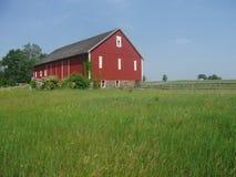 Fattoria rossa a Gettysburg Fotografia Stock Libera da Diritti