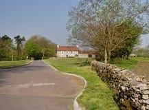 Fattoria rurale inglese della proprietà terriera Immagine Stock