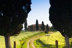 Fattoria in Toscana, Italia Fotografia Stock Libera da Diritti