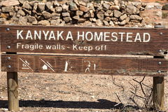 Fattoria vicina di Kanyaka di abbandono di sospiro. Austr del sud immagini stock