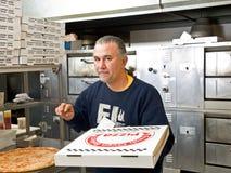 Fattorino della pizza Fotografie Stock Libere da Diritti
