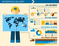 Fattorino Infographics royalty illustrazione gratis