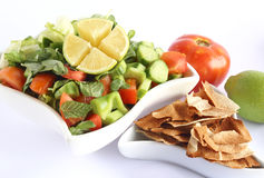 Fattoush - Lebanese Salad Stock Photo